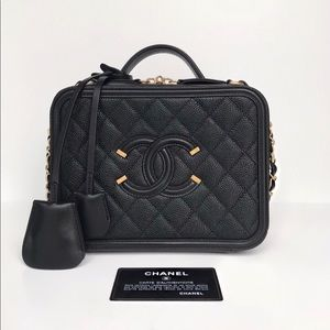 ❌SOLD❌ Chanel Caviar Vanity Case Bag Medium